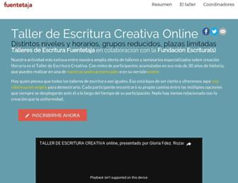 Main page screenshot of taller-de-escritura.es