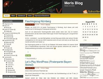 Main page screenshot of merls-blog.de