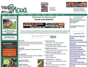 Main page screenshot of novas.net