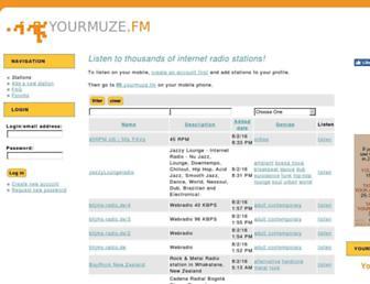 yourmuze.fm screenshot
