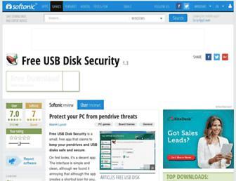 free-usb-disk-security.en.softonic.com screenshot