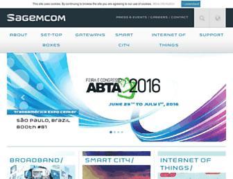 sagemcom.com screenshot