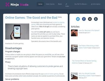ninja-blade.com screenshot