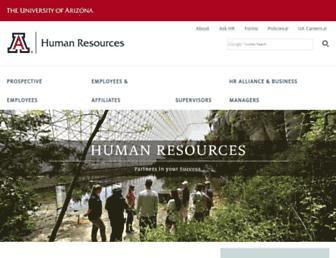 hr.arizona.edu screenshot