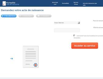 formalite-acte-de-naissance.org screenshot