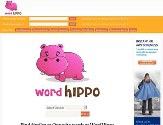 wordhippo.com screenshot
