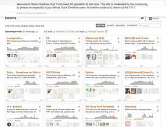 chat.stackoverflow.com screenshot