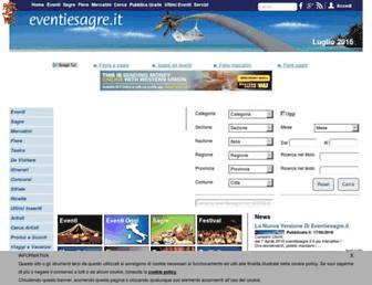 Main page screenshot of eventiesagre.it