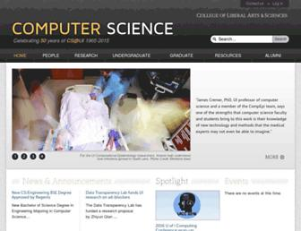 Main page screenshot of cs.uiowa.edu