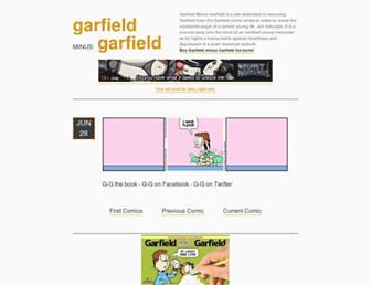 Main page screenshot of garfieldminusgarfield.net