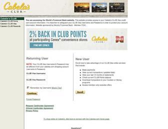 Thumbshot of Cabelasclubvisa.com