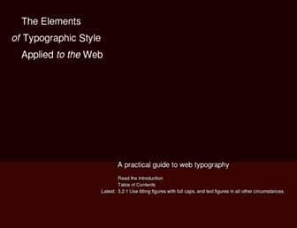 Main page screenshot of webtypography.net