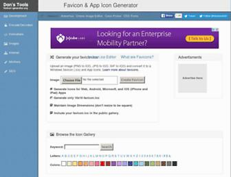favicon-generator.org screenshot