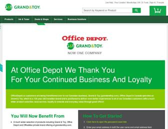 Main page screenshot of officedepot.ca