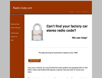 radio-code.com screenshot