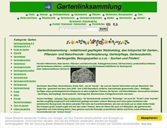 Main page screenshot of gartenlinksammlung.de