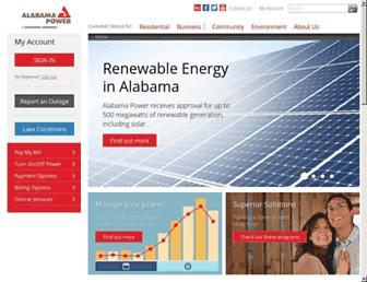 Thumbshot of Alabamapower.com
