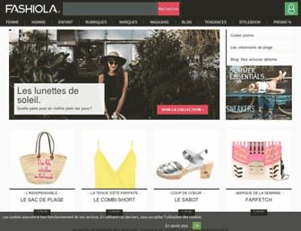 fashiola.fr screenshot