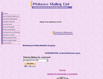 ptolomeo.org.es screenshot