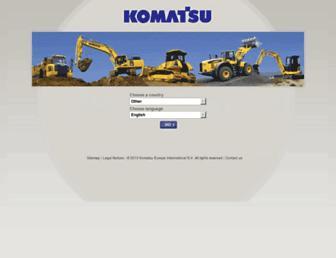 komatsu.eu screenshot