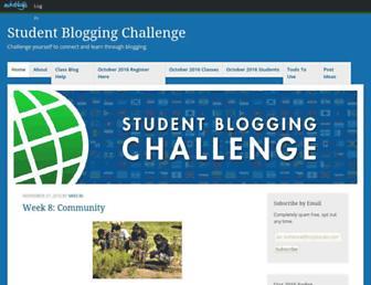 studentchallenge.edublogs.org screenshot