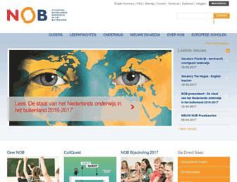 Main page screenshot of stichtingnob.nl