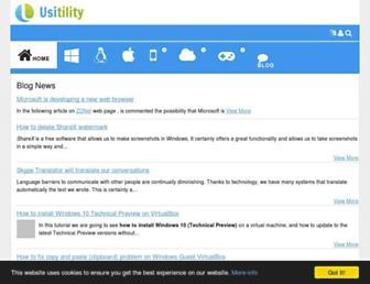 usitility.com screenshot