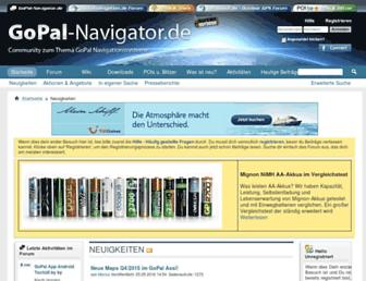 Main page screenshot of gopal-navigator.de