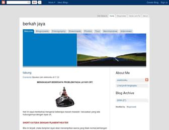 berkahjaya-elektroniku.blogspot.com screenshot