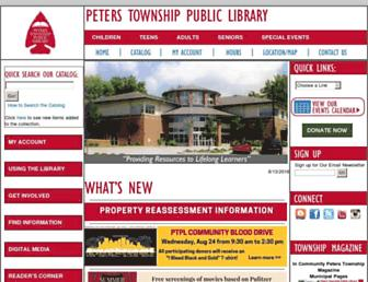 Main page screenshot of ptlibrary.org