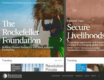 Thumbshot of Rockefellerfoundation.org