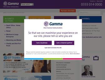 gamma.co.uk screenshot
