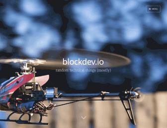 blockdev.io screenshot