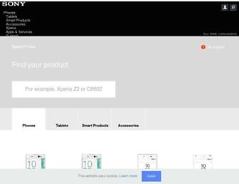 support.sonymobile.com screenshot