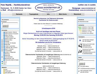 Main page screenshot of elektroscooter.net