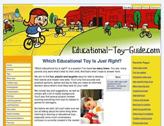 educational-toy-guide.com screenshot
