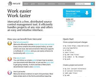 mercurial-scm.org screenshot