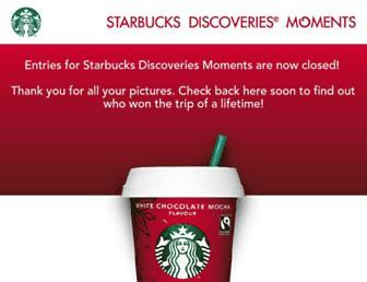 Thumbshot of Starbucksdiscoveriesmoments.com