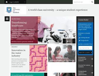 Thumbshot of Shef.ac.uk