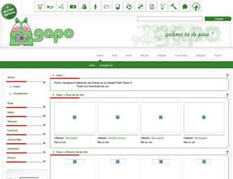 Main page screenshot of gapo.ro