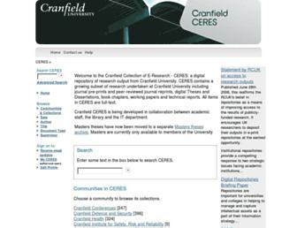 dspace.lib.cranfield.ac.uk screenshot