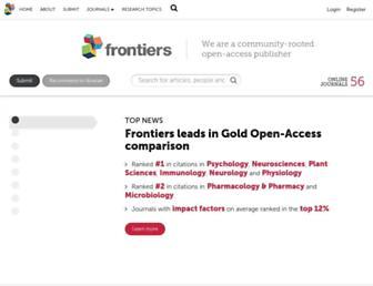 frontiersin.org screenshot