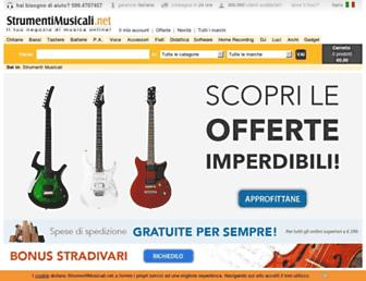 strumentimusicali.net screenshot