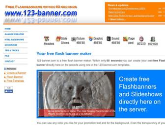123-banner.com screenshot