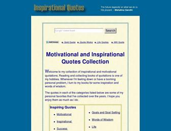 Main page screenshot of inspirational-quotes.info
