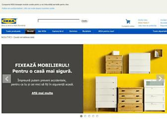 Main page screenshot of ikea.ro