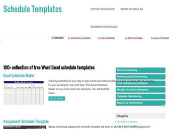 freescheduletemplates.com screenshot