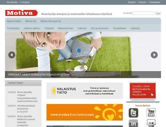 Main page screenshot of motiva.fi