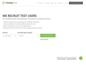 testingtime.com screenshot