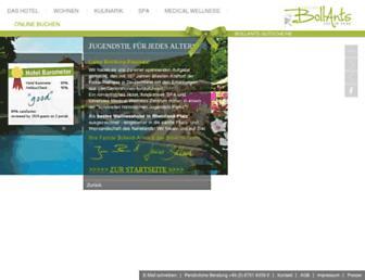 Main page screenshot of bollants.de